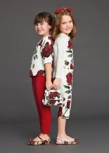 DOLCE&GABBANA KIDS ROSES