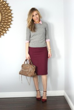 n075pi-l-610x610-lilly+s+style-blogger-grey+sweater-purse-pencil+skirt-classy-office+outfits-sweater-skirt-shoes-bag-jewels