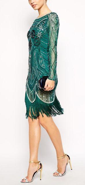 Vestido com franjas estilo Gatsby
