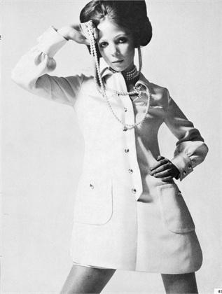 Vestido chemise em 1969.