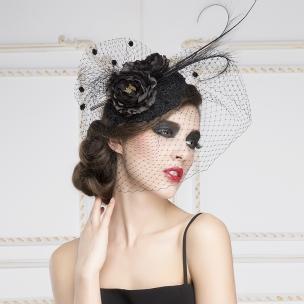 Luxury-European-White-Black-Birdcage-Bridal-Flower-Feathers-Fascinator-Hair-Hoop-Bride-Wedding-Party-Hats-Gauze