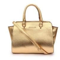 Bolsa em couro dourado Michael Kors