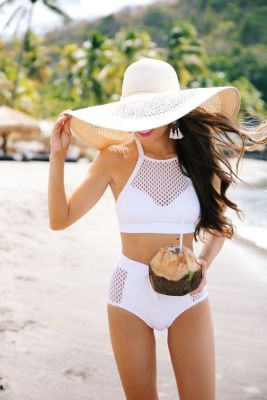 High Waisted Halter Bikini
