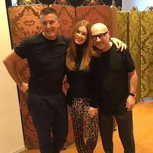 Marina Ruy Barbosa, Stefano Gabbana e Domenico Dolce