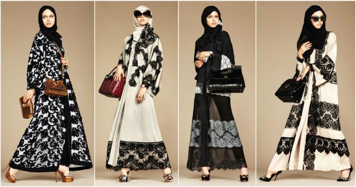 Coleçao Hijab e Abayas de Dolce&Gabbana.