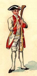 Vestimenta de soldado da infantaria Portuguesa, 1760
