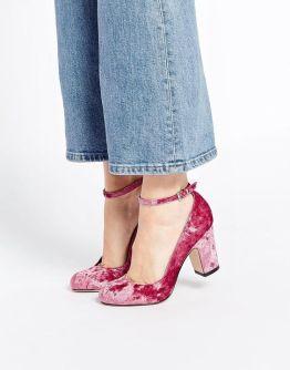 Sapatos em veludo pode dar um charme todo especial em seu look.