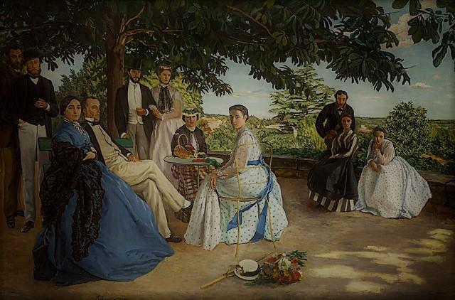 Pintura de  Frédéric Bazille's, de 1867 - Family Reunion