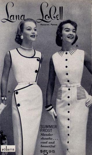 Revista de moda de 1956 com os modelos da época. Modelo Vintage