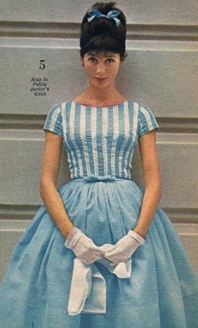 Revista de Moda de 1958 com modelo da época, portanto este é um modelo Vintage.