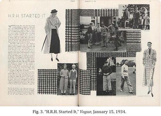 Príncipe Edward VII na edição da Vogue de 15 de Janeiro de 1934.