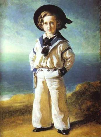 Prince Albert Edward (o futuro Edward VII do Reino Unido ) em um terno de marinheiro , de Franz Xaver Winterhalter , 1846