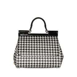 -Eleganti Borse A Mano Dolce Gabbana Donna - Borsa A Mano - Pied De Poule In Linea 339_LRG