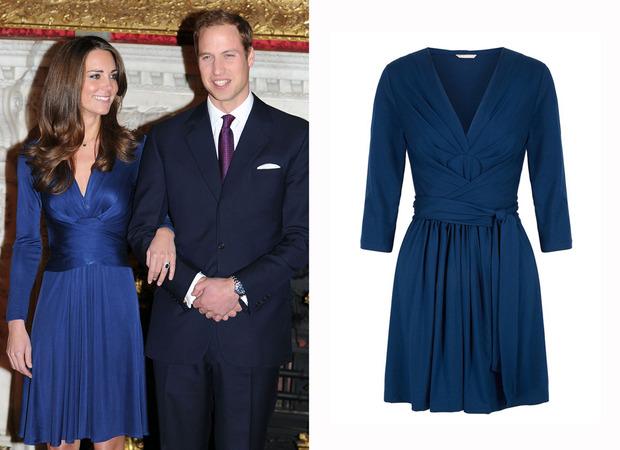 Kate Middleton no dia do anuncio oficial de seu noivado com o príncipe William