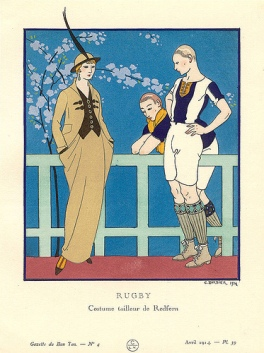 Tailleur para cavalgada de Redfern, 1914.
