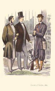 Homens da alta sociedade em1861.