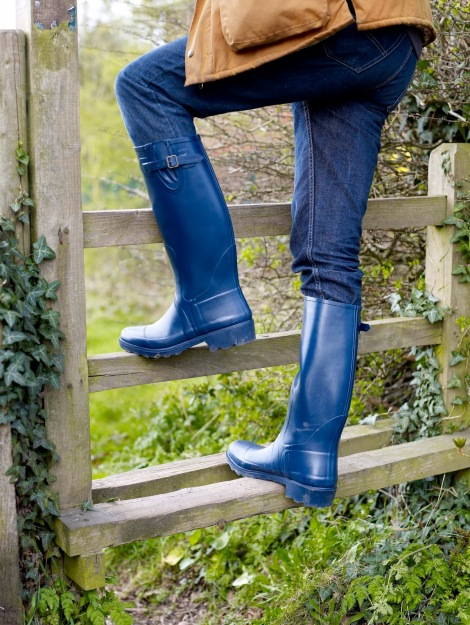 Blue boots style