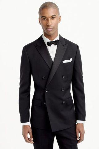 Tuxedo duplo abotoamento com bolsos com lapela ou modelo Flap.