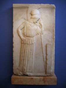 Atena usando um peplos simples, c. 460 aC, peplum